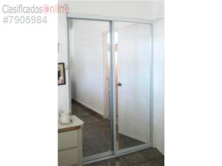 Puerta Closet Espejo Heavy Duty Blanco 72x96, MG Inter / Space Designs Puerto Rico