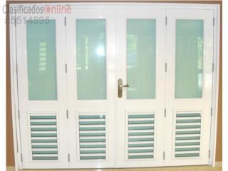 Puerta Cuatro Hojas, 1/4 de ventana 120 x 96, MG Inter / Space Designs Puerto Rico