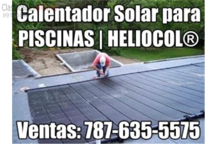 Calentador piscina solar heliocol universal puerto rico for Calentador piscina solar