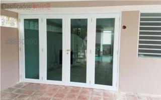 Puerta Cuatro Hojas Heavy Full Glass 120 x 84, MG Inter / Space Designs Puerto Rico