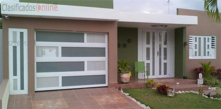Puerta garaje aluminio heavy 8 x 7 instalada puerto rico - Precio puertas de garaje ...
