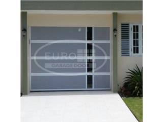 PUERTA DE GARAGE ALUMINIO VENTILADA Y CRISTAL, EURO GARAGE DOORS Puerto Rico