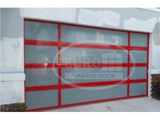 PUERTA PARA GARAGE ALUMINIO Y CRISTAL, EURO GARAGE DOORS Puerto Rico