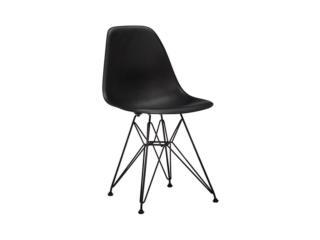 Silla eames en color negra con base negra, Furniture Warehouse Outlet: Contract Division Puerto Rico
