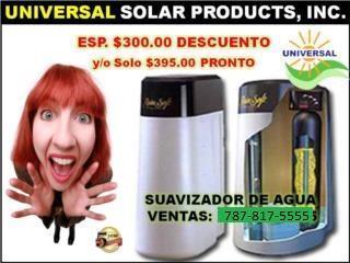 SISTEMA OSMOSIS, CON SUAVIZADOR TODA LA CASA, UNIVERSAL SOLAR, 787-817-5555 OFIC. CENTRAL Puerto Rico