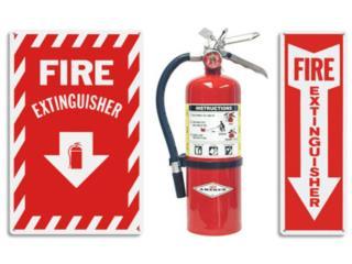 Rotulación de Emergencia (VARIEDAD), CEL Fire Extinguishers & More Puerto Rico