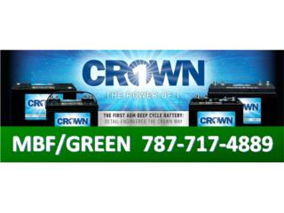 BATERIAS CROWN AGM SELLADAS - SOLAR / BACK UP, MULTI BATTERIES & FORKLIFT, CORP. Puerto Rico