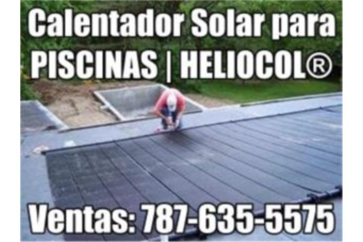 Calentador solar piscina heliocol universal puerto rico for Calentador solar piscina