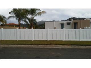 Verja PVC Modelo: Semi-Privado, Pro Fence Puerto Rico