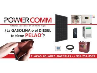 Planta Solar con Baterias , PowerComm, Inc 7878983434 Puerto Rico