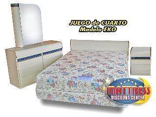 Juego de cuarto NUEVO, CON MATTRESS INCLUIDOS, Mattress Discount Center Puerto Rico