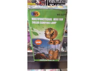 Multifunctional Mini Fan Solar Camping Lamp, WSB Supplies U Puerto Rico