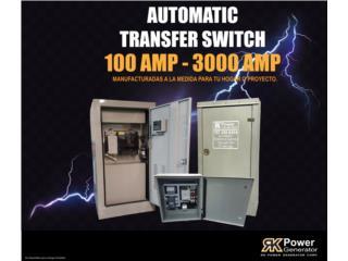 ¡TRANSFER SWITCH AUTOMÁTICOS PARA TU PLANTA!, RK Power Generator Corp. Puerto Rico