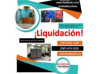 LIQUIDACION MODULOS DE OFICINA USADOS, AMBITEK FURNITURE Puerto Rico