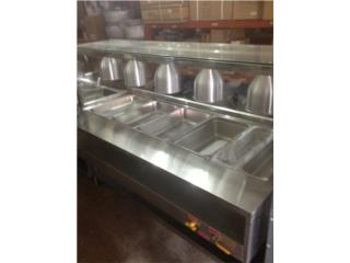 STEAM TABLE 5 WELLS con PROTECTOR y LUCES, AA Industrial Kitchen Inc Puerto Rico