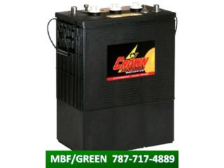 BATERIA CROWN 430A/H @ 6VDC - BACK UP / SOLAR, MULTI BATTERIES & FORKLIFT, CORP. Puerto Rico