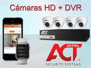 2-6 CAMARAS HD+DVR+ALARMA INTELIGENTE GRATIS!, intelACT Security Systems Puerto Rico