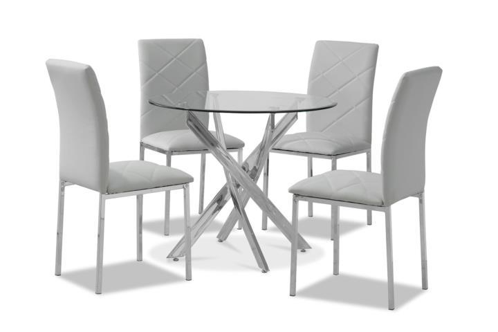 Comedor redondo modelo 11245 en 4 sillas for Comedor redondo 5 sillas
