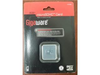 Micro SDHC 8GB Gigaware Nueva!!!, Quality Sales PR Puerto Rico