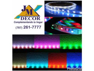 Luces LED Colores, JM DECOR / www.jmdecor.net Puerto Rico