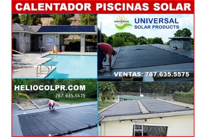Calentador piscina solar universal solar puerto rico for Calentador piscina solar