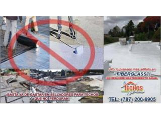 Vega Baja Puerto Rico Calentadores de Agua, SELLADOR DE TECHO DE FIBERGLASS