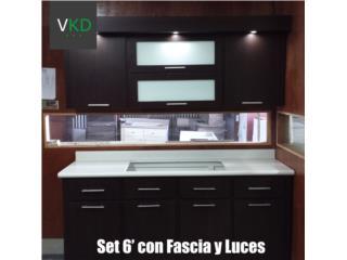 Cocina en PVC con Fascia de 6', VICTOR GONZALEZ KITCHEN DESIGN Puerto Rico