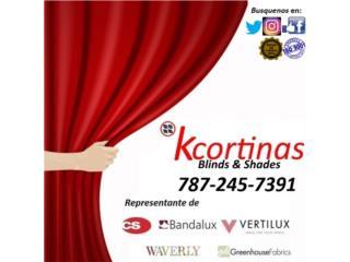 Cortinas interiores Guayama , KCORTINAS BLINDS & SHADES Puerto Rico