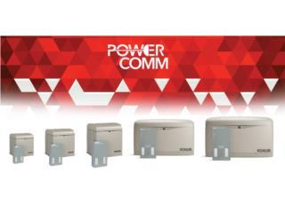 PLANTAS ELECTRICA KOHLER DESDE 8K EN ADELANTE, PowerComm, Inc 7878983434 Puerto Rico