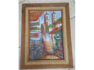 Cuadro Texturizado de Casas antiguas, Quality Sales PR Puerto Rico