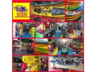 Inv. de Kayaks Mas Grande de PR 1# Desde 1991, Aqua Sports Kayaks Distributors Puerto Rico 1991 Puerto Rico