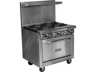 Estufa 6 hornillas con horno Royal , Restaurant Equipment and Steel Puerto Rico