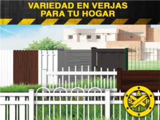 Verjas PVC al mejor precio , Steel and Pipes Puerto Rico