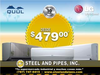 Liquidación de Aires Inverter LG y QUUL , Steel and Pipes Puerto Rico