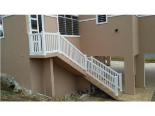 Barandas PVC Escaleras, Pro Fence Puerto Rico