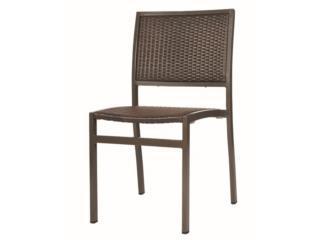 Silla Emma de aluminio y Wicker color brown, PR SEATING Puerto Rico