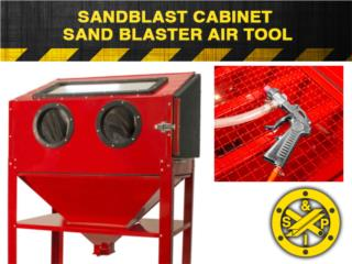 Sandblasting Cabinet with Gun, Steel and Pipes Puerto Rico