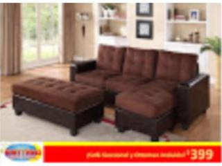 Sofa Seccional y Ottoman Incluido!, Mattress Discount Center Puerto Rico