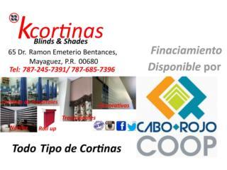 Cortinas Financiadas, KCORTINAS BLINDS & SHADES Puerto Rico