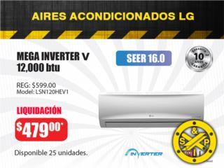 MEGA INVERTER V LG, 12,000 btu, Steel and Pipes Puerto Rico