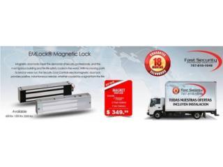 -------- Cerradura Magnética 600 lbs -------, FAST SECURITY  Puerto Rico