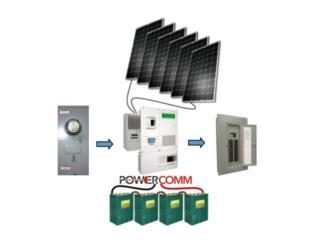 Planta Solar Baterías, PowerComm, Inc 7878983434 Puerto Rico