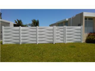 Verja PVC Modelo: Basket Style, Pro Fence Puerto Rico