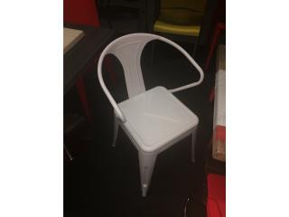 Retro Bistro Chair XL Blanco o Negro, AN OFFICE DESIGN Puerto Rico