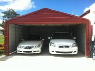 Garajes prefabricados para 1 o 2 vehiculos , Pepino Canopy's Puerto Rico