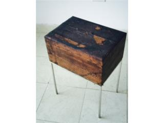Charming Chrome and Ostrich Skin Box MG, Mr. Bond Vintage Puerto Rico