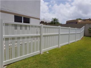 Verjas en PVC- Modelo Orquidea 2, Verjas PVC Puerto Rico