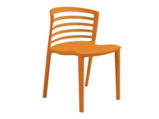 Silla de resina 447 color naranja, PR SEATING Puerto Rico