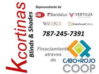 Cortinas de interior Mayaguez , KCORTINAS BLINDS & SHADES Puerto Rico