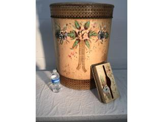 Hamper and  Kleenex Holder 50's-60's OM-8, Mr. Bond Vintage Puerto Rico